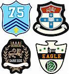 emblem badge set Stock Photo - Royalty-Free, Artist: pauljune                      , Code: 400-05917457