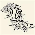 vector concept monochrome fish Stock Photo - Royalty-Free, Artist: alexmakarova                  , Code: 400-05917619
