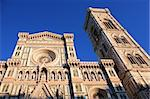 Closeup of Santa Maria Del Fiore Cathedral and Giotto bell tower. Florence, Italy Stock Photo - Royalty-Free, Artist: kvkirillov                    , Code: 400-05917679