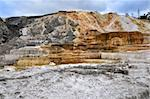 Calcite terrace at Mammoth Hot Springs in Yellowstone National Park Stock Photo - Royalty-Free, Artist: svetlanna                     , Code: 400-05917907