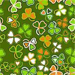 Trefoil seamless st. Patrick?s Day background. Stock Photo - Royalty-Free, Artist: tatianat                      , Code: 400-05917956