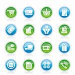 Online shop icons - vector icon set Stock Photo - Royalty-Free, Artist: stoyanh                       , Code: 400-05918076
