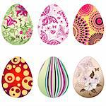 Set colorful Easter`s eggs isolated on white (vector) Stock Photo - Royalty-Free, Artist: OlgaDrozd                     , Code: 400-05918239