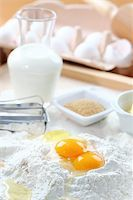 Baking ingredients for cake, pastry or cookies Stock Photo - Royalty-Freenull, Code: 400-05918466