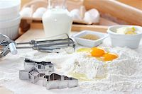Baking ingredients for cake, pastry or cookies Stock Photo - Royalty-Freenull, Code: 400-05918467