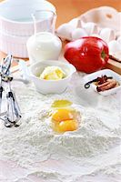 Baking ingredients for apple pie Stock Photo - Royalty-Freenull, Code: 400-05918468