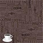 Background with coffee typography Stock Photo - Royalty-Free, Artist: hibrida13                     , Code: 400-05919576