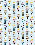 reporter people seamless pattern Stock Photo - Royalty-Free, Artist: notkoo2008                    , Code: 400-05919710