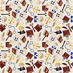 law seamless pattern Stock Photo - Royalty-Free, Artist: notkoo2008                    , Code: 400-05919714