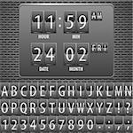 Countdown Timer on the Mechanical Timetable with Alphabet on Metal Plate, vector illustration Stock Photo - Royalty-Free, Artist: TAlex                         , Code: 400-05920207