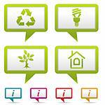 Collect Environment Web Icon with tree, leaf, light bulb and Recycling Symbol, vector illustration Stock Photo - Royalty-Free, Artist: TAlex                         , Code: 400-05920213