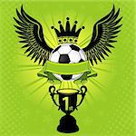 Soccer Balls with Wings, Crown and Cup, vector illustration Stock Photo - Royalty-Free, Artist: TAlex                         , Code: 400-05920217