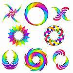 vector illustration of rainbow logo and icon set for your design Stock Photo - Royalty-Free, Artist: anyamantis                    , Code: 400-05920391