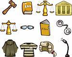 law icons Stock Photo - Royalty-Free, Artist: notkoo2008                    , Code: 400-05920756