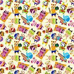 seamless summer animal pattern   Stock Photo - Royalty-Free, Artist: notkoo2008                    , Code: 400-05920757