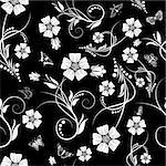 Seamless vector floral pattern. For easy making seamless pattern just drag all group into swatches bar, and use it for filling any contours. Stock Photo - Royalty-Free, Artist: angelp                        , Code: 400-05920889