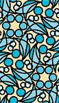 Seamless wallpaper pattern of blue shells and circles Stock Photo - Royalty-Free, Artist: theblackrhino                 , Code: 400-05922348