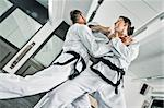 An image of two martial arts fighters Stock Photo - Royalty-Free, Artist: magann, Code: 400-05923867