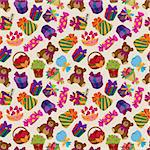 seamless gift pattern Stock Photo - Royalty-Free, Artist: notkoo2008                    , Code: 400-05923893