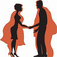 Dieting couple from fat to thin Stock Photo - Royalty-Freenull, Code: 400-05923968