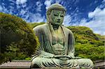 The Great Buddha (Daibutsu) on the grounds of Kotokuin Temple in Kamakura, Japan. Stock Photo - Royalty-Free, Artist: sepavo                        , Code: 400-05924770