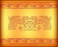 Background with mayan god with wings Stock Photo - Royalty-Freenull, Code: 400-05927811