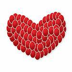 red heart made from eggs Stock Photo - Royalty-Free, Artist: BooblGum                      , Code: 400-05928845