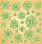 St. Patrick's day background in golden colors. Vector illustration. Stock Photo - Royalty-Free, Artist: BooblGum                      , Code: 400-05928849