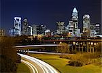 Uptown Skyline of Charlotte, North Carolina at night. Stock Photo - Royalty-Free, Artist: sepavo                        , Code: 400-05931434
