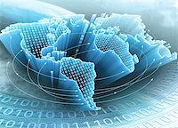 World Map interconnected by information. Concept of global information and technology of communication. Stock Photo - Royalty-Freenull, Code: 400-05933175