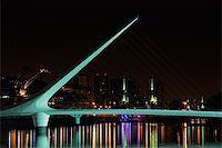 puentes - Bridge of the Woman (Puente De La Mujer) by night, Buenos Aires, Argentina  Stock Photo - Royalty-Freenull, Code: 400-05936193