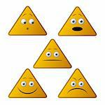 Triangle emoticons Stock Photo - Royalty-Free, Artist: Petecek                       , Code: 400-05939170