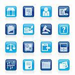 Stock exchange and finance icons - vector icon set Stock Photo - Royalty-Free, Artist: stoyanh                       , Code: 400-05939315