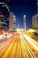 traffic in downtown in hong kong at night Stock Photo - Royalty-Freenull, Code: 400-05939322