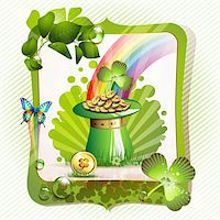 St. Patrick's Day card design with hat and coins Stock Photo - Royalty-Freenull, Code: 400-05946555
