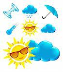 weather icon on white background on white Stock Photo - Royalty-Free, Artist: sermax55                      , Code: 400-05946652