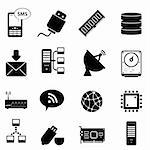 Computer and technology icon set Stock Photo - Royalty-Free, Artist: soleilc                       , Code: 400-05946785