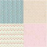 Vintage Paper With Polka Dots Set, Vector Illustration Stock Photo - Royalty-Free, Artist: adamson                       , Code: 400-05946854