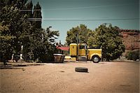 side view tractor trailer truck - Transport Truck and Tire, Fredonia, Coconino County, Arizona Stock Photo - Premium Rights-Managednull, Code: 700-05947662