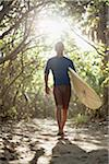 Man Walking with Surfboard Stock Photo - Premium Rights-Managed, Artist: Peter Barrett, Code: 700-05947670
