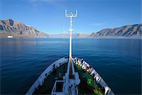 ships at sea - Expedition Vessel in Kejser Franz Joseph Fjord, Greenland Stock Photo - Premium Rights-Managednull, Code: 700-05947703