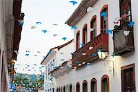 Flags and Buildings, Paraty, Rio de Janeiro, Brazil Stock Photo - Premium Rights-Managednull, Code: 700-05947880