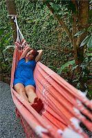 Woman in Hammock, Paraty, Rio de Janeiro, Brazil Stock Photo - Premium Rights-Managednull, Code: 700-05947885