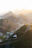Rio de Janeiro and Tram as seen from Sugarloaf Mountain, Rio de Janeiro, Brazil Stock Photo - Premium Rights-Managednull, Code: 700-05947892