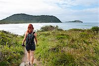 Backview of Woman Hiking, Ilha do Mel, Parana, Brazil Stock Photo - Premium Royalty-Freenull, Code: 600-05947911