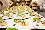 Preparing Plates of Sushi and Dumplings Stock Photo - Premium Rights-Managed, Artist: Ikonica, Code: 700-05948029