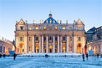 St Peter's Basilica in Winter, Vatican City, Rome, Italy Stock Photo - Premium Rights-Managednull, Code: 700-05948124