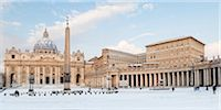 St Peter's Square and St Peter's Basilica in Winter, Vatican City, Rome, Lazio, Italy Stock Photo - Premium Rights-Managednull, Code: 700-05948128