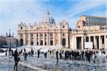 St Peter's Square and St Peter's Basilica in Winter, Vatican City, Rome, Lazio, Italy Stock Photo - Premium Rights-Managed, Artist: Siephoto, Code: 700-05948130