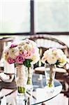 Bouquets of Flowers on Tables at Wedding, Toronto, Ontario, Canada Stock Photo - Premium Royalty-Free, Artist: Ikonica, Code: 600-05948259